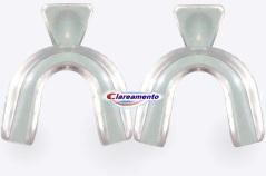 Clareamento oferece moldeiras específicas para clareamento dental que se modelam em qualquer arcada dentária